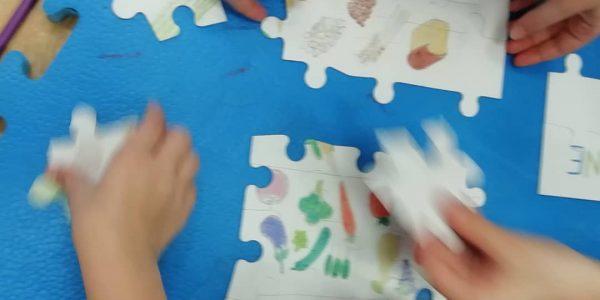puzzle na radionici za mlade sportaše